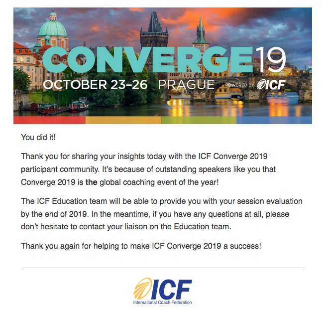 Converge19- Nature Coaching workshop