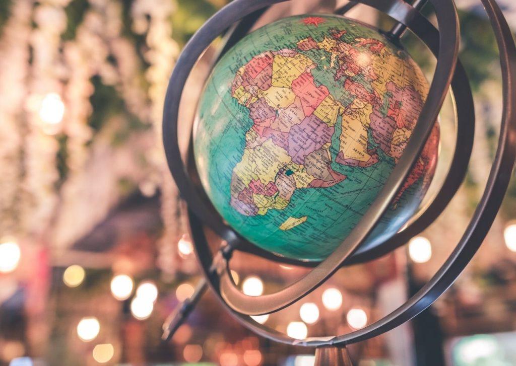 world map for nature coaching ambassadors